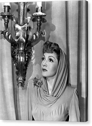 Claudette Colbert Canvas Print by Everett
