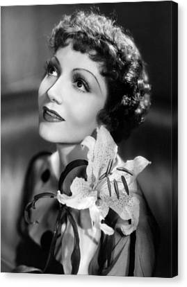 Claudette Colbert, Paramount Pictures Canvas Print by Everett