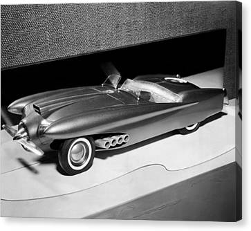 Clay Model Of A Ford Dream Car, 1952 Canvas Print by Everett