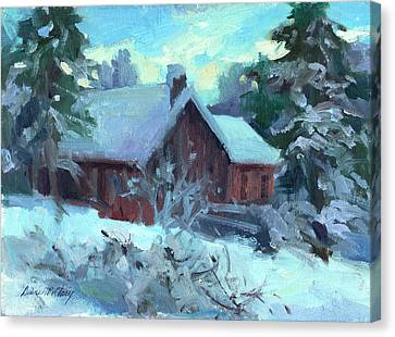 Fir Trees Canvas Print - Cle Elum Cabin by Diane McClary