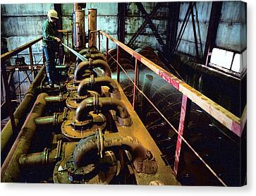 Cleaning Gold Mining Equipment Canvas Print by Ria Novosti
