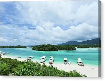 Clear Blue Lagoon, Paradise Beach, Ishigaki, Japan Canvas Print