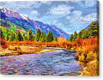 Canvas Print featuring the digital art Clear Creek Vista by Brian Davis