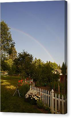 Clear Sky Rainbow Canvas Print by Mick Anderson