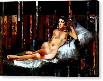 Cleopatra Nude Canvas Print by Karine Percheron-Daniels