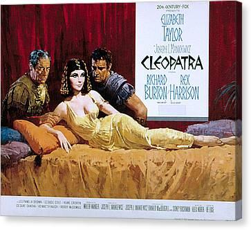 Cleopatra, Rex Harrison, Elizabeth Canvas Print by Everett