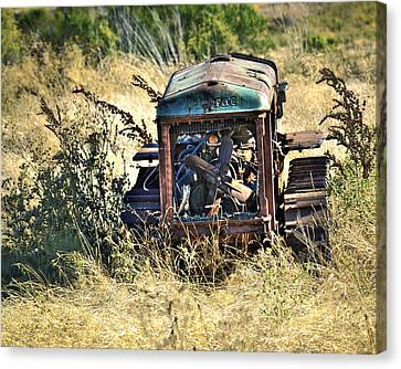 Cletrac Tractor Canvas Print by William Havle