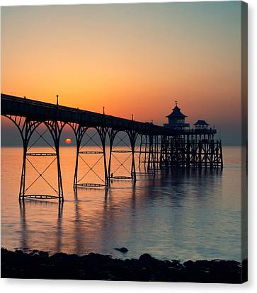 Clevedon Pier Canvas Print by Martin Turner