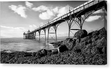Clevedon Pier Canvas Print by Photographer Nick Measures