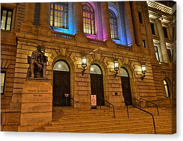 Cleveland Court House Canvas Print by Frozen in Time Fine Art Photography
