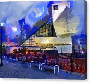 Cleveland Rocks Canvas Print by Anthony Caruso