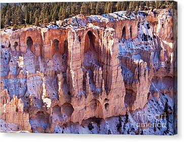 Cliff Condos Canvas Print by Bob and Nancy Kendrick