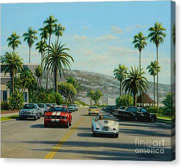 Cliff Drive Laguna Canvas Print by Frank Dalton