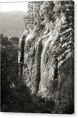 Cliff Face Columbia River Gorge  Canvas Print