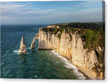 Cliff needle In Etretat, France Canvas Print by Rogdy Espinoza Photography