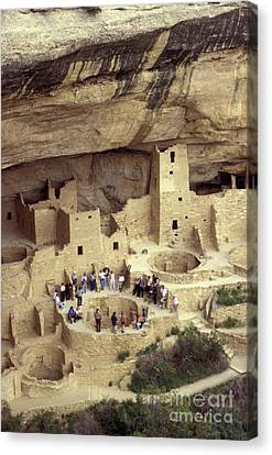 Cliff Palace Kiva Mesa Verde Canvas Print by John  Mitchell
