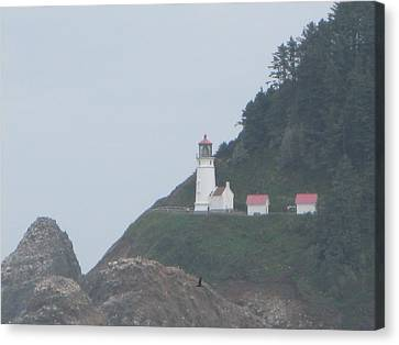 Cliff Side Light House Canvas Print