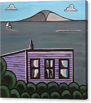 Cliff Top Canvas Print by Sandra Marie Adams