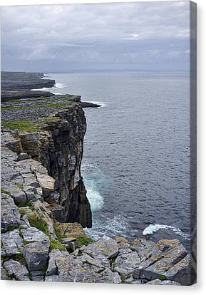 Canvas Print featuring the photograph Cliffs Of Inishmore by Hugh Smith