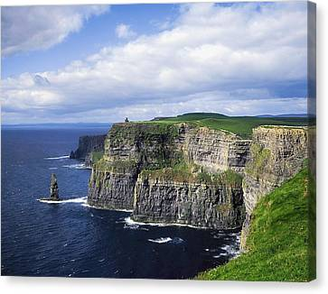 Co. Clare Canvas Print - Cliffs Of Moher, Co Clare, Ireland by The Irish Image Collection