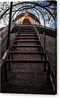 Canvas Print featuring the photograph Climb Away by Matti Ollikainen