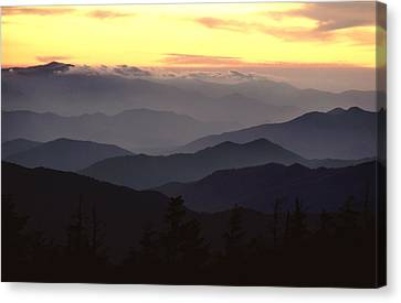Clingmans Dome Is The Highest Point Canvas Print by James P. Blair