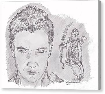 Clint Barton- Hawkeye Canvas Print by Chris  DelVecchio