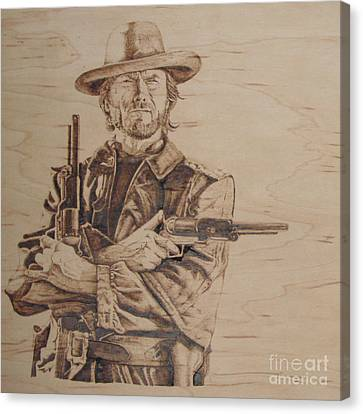 Clint Eastwood Canvas Print by Chris Wulff