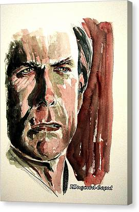 Clint Eastwood Canvas Print by Francoise Dugourd-Caput