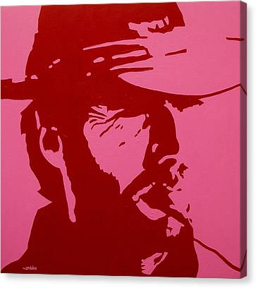 Clint Eastwood Art Canvas Print - Clint by John  Nolan