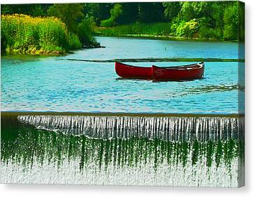 Clinton Canoes Canvas Print by Artistic Photos