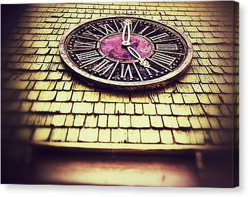 Clock 5 Canvas Print by Olivier Calas