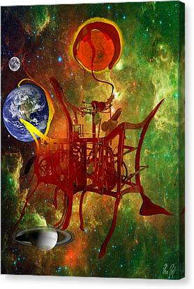 Clock Of Universe Canvas Print by Helmut Rottler