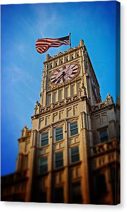 Canvas Print featuring the photograph Clock Tower In Downtown Jackson 2 by Jim Albritton