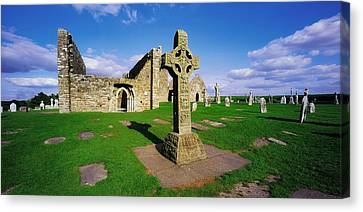 Clonmacnoise, Co Offaly, Ireland High Canvas Print by The Irish Image Collection