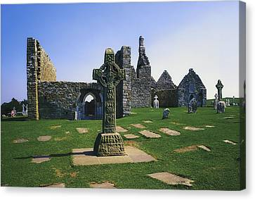 Clonmacnoise, Co Offaly, Ireland, West Canvas Print by The Irish Image Collection