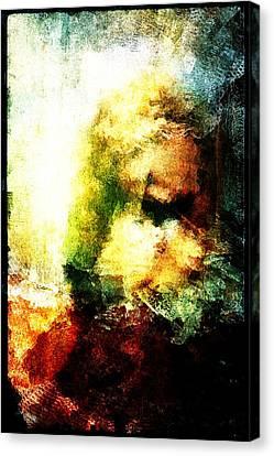 Canvas Print featuring the digital art Close Friends by Andrea Barbieri