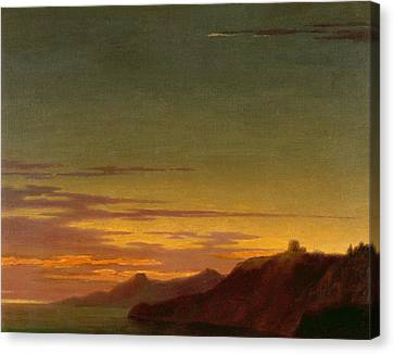 Close Of The Day - Sunset On The Coast Canvas Print by Alexander Cozens