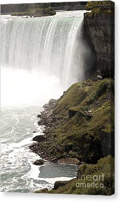 Close To The Falls Canvas Print by Amanda Barcon