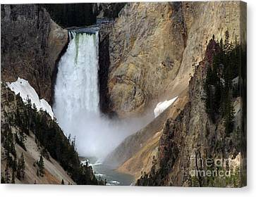 Close Up Of Lower Falls Canvas Print by Living Color Photography Lorraine Lynch