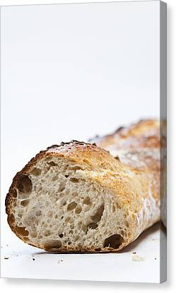 Close Up Of Sliced Loaf Of Bread Canvas Print