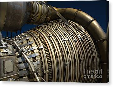Close-up View Of A Rocket Engine Canvas Print by Roth Ritter