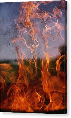 Close View Of Fire Canvas Print by Brian Gordon Green
