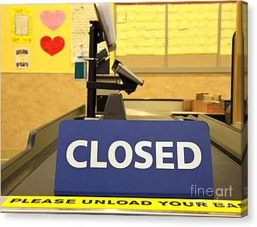 Closed Checkout Aisle Canvas Print by David Buffington