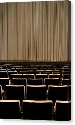 Closed Curtain In An Empty Theater Canvas Print