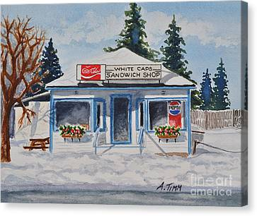Closed For Season Canvas Print by Andrea Timm