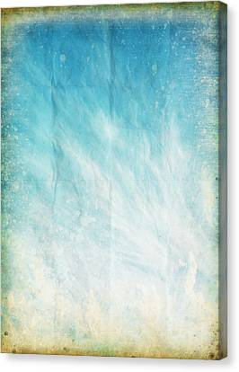 Cloud And Blue Sky On Old Grunge Paper Canvas Print by Setsiri Silapasuwanchai