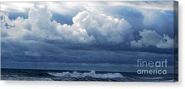 Canvas Print featuring the photograph Cloud Bank by Linda Mesibov