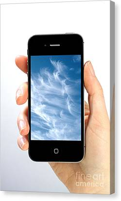 Cloud Computing Canvas Print by Photo Researchers