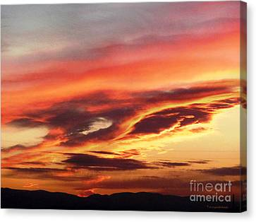 Cloud Face Canvas Print